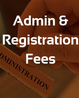admin and registration fees